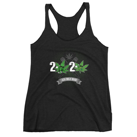 Women's 2020 Weed Racerback Tank Top - 420 Mile High