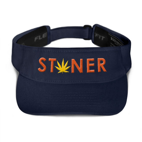 Orange Stoner Yellow Weed Visor Hat - 420 Mile High