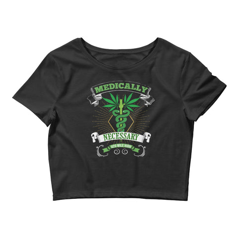 Womens Medically Necessary Crop Top - 420 Mile High