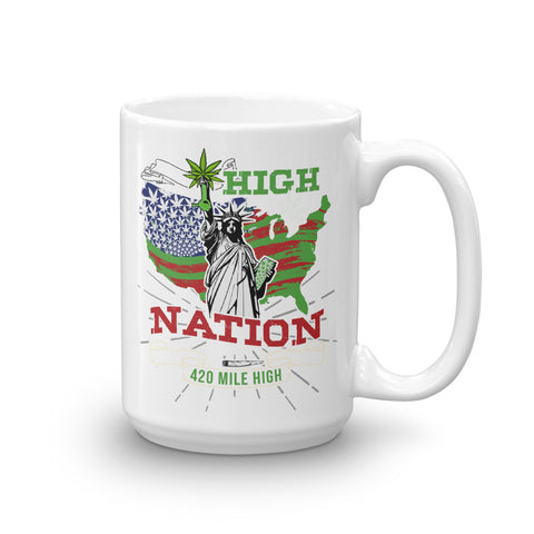 High Nation Weed Coffee Mug - 420 Mile High