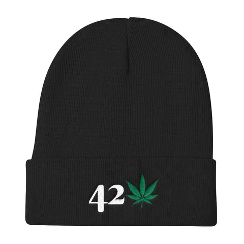 420 Weed Knit Beanie Hat- 420 Mile High