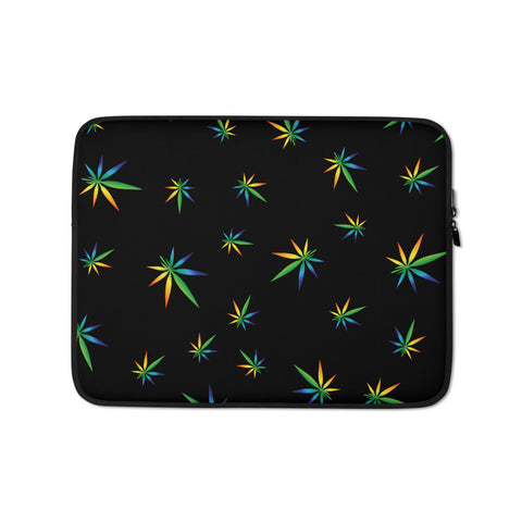 Multi-Color Weed Pattern Laptop Protective Sleeve