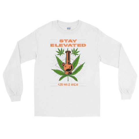 Stay Elevated Long Sleeve T-Shirt - 420 Mile High