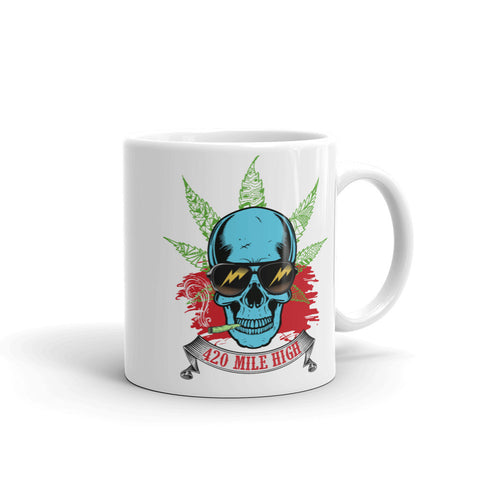Smoking Weed Mug - 420 Mile High