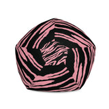 Pink Tiger Print Bean Bag Chair Cover