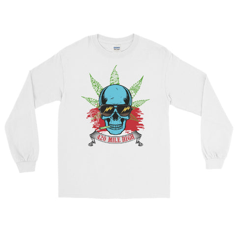 Smoking Weed Long Sleeve T-Shirt - 420 Mile High