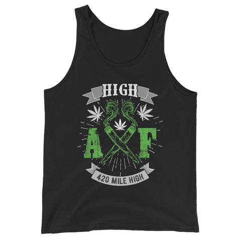 High AF Weed Tank Top - 420 Mile High