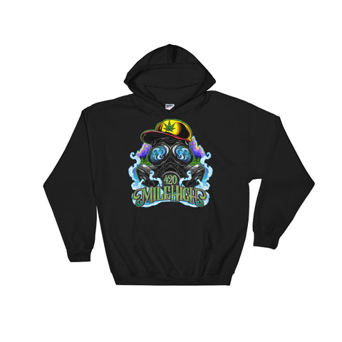 Gas Mask And Weed Pullover Hoodies - 420 Mile High
