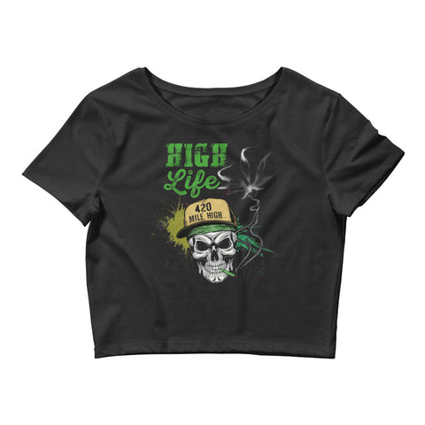 Womens High Life Crop Top - 420 Mile High