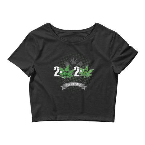 Women's Crop Top 2020 Weed - 420 Mile High