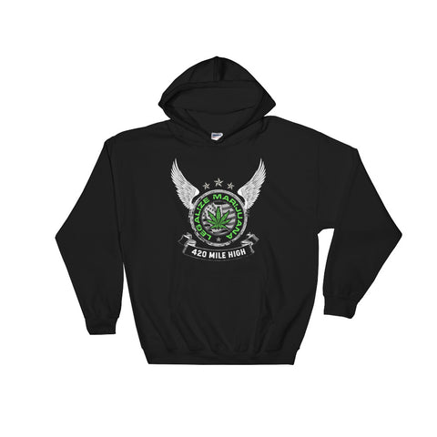 Legalize Marijuana Pullover Sweatshirt Hoodies - 420 Mile High