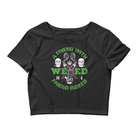Womens A Friend With Weed Crop Top - 420 Mile High