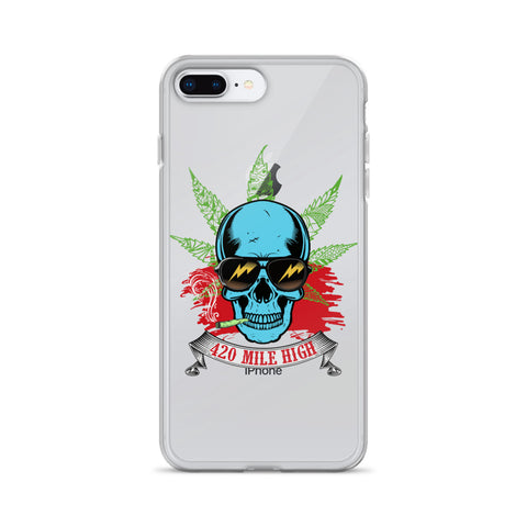 Smoking Weed iPhone Case - 420 Mile High