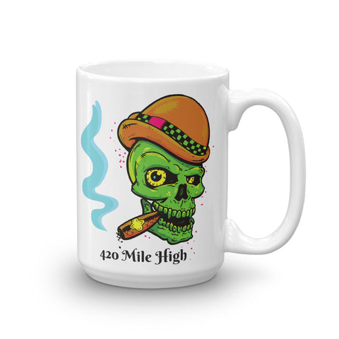 Smoke A Fat One Weed Mug - 420 Mile High