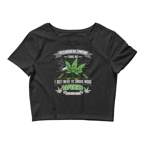 Womens Smoke More Weed Crop Top - 420 Mile High
