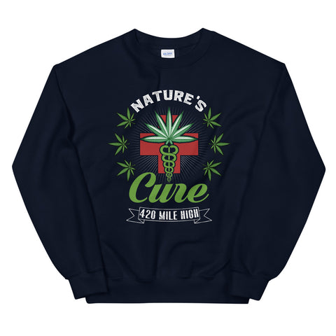 Nature's Cure Sweatshirt Navy Color | 420 Mile High