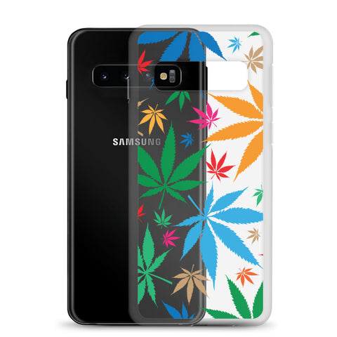 Multi-Color Weed Samsung Cases