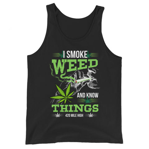 I Smoke Weed Tank Top - 420 Mile High