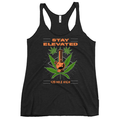 Women's Stay Elevated Racerback Tank Top - 420 Mile High