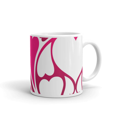 Heart Pattern Coffee Mug - 420 Mile High