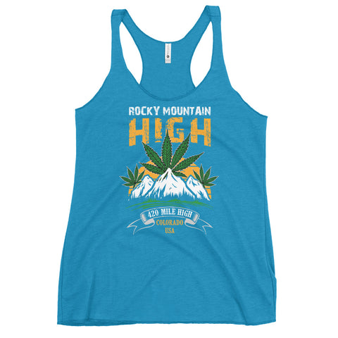 Women's Rocky Mountain High Racerback Tank Top - 420 Mile High