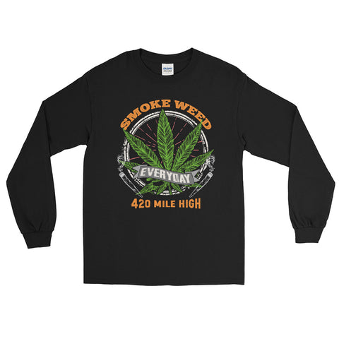 Smoke Weed Everyday Long Sleeve T-Shirt - 420 Mile High
