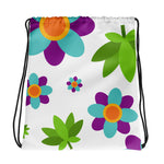 Flowers and Weed Drawstring Bag - 420 Mile High