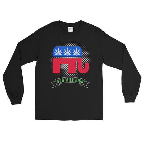 Republican Weed Long Sleeve T-Shirt - 420 Mile High