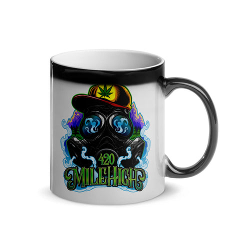 420 Mile High Logo Color Glossy Magic Mug