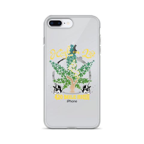 High On Life iPhone Case - 420 Mile High
