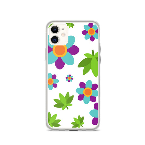 Flowers and Weed iPhone Case - 420 Mile High