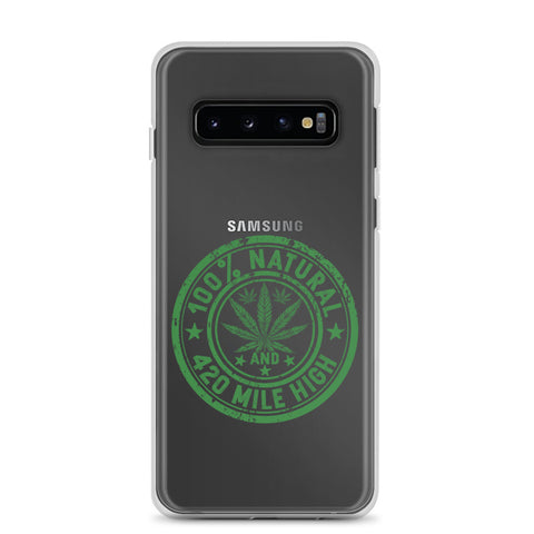 100% Natural Weed Samsung Cases