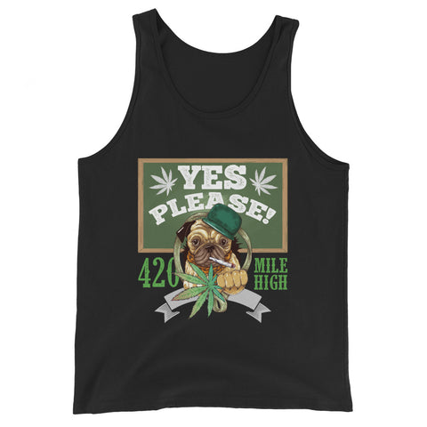 Yes Please Weed Tank Top - 420 Mile High