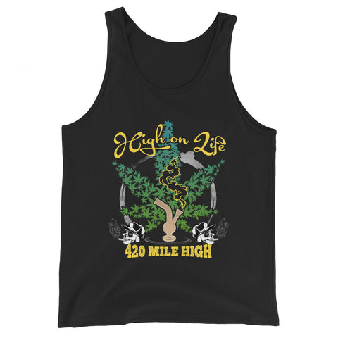 High On Life Weed Tank Top - 420 Mile High