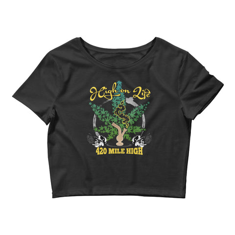 Womens High On Life Crop Top - 420 Mile High