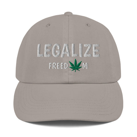 Legalize Freedom Weed Leaf Champion Dad Hats