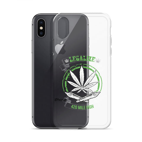 Legalize Marijuana iPhone Case - 420 Mile High