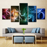 Up In Colorful Smoke Canvas Wall Art For Living Room Hemp Home Decor 5 Pieces - 420 Mile High