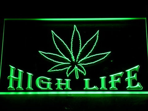 High Life Weed LED Neon Sign - Choose Size and Color - 420 Mile High