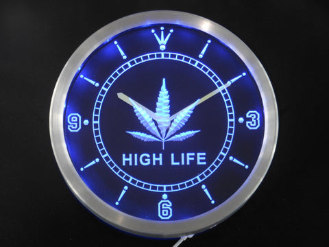SALE - High Life LED Neon Wall Clock - 420 Mile High