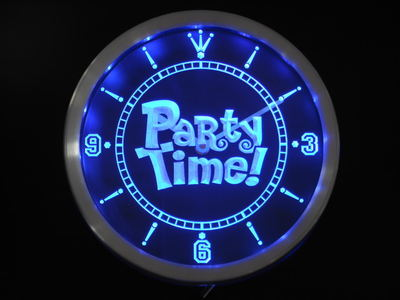 SALE - Party Time LED Neon Wall Clock - 420 Mile High
