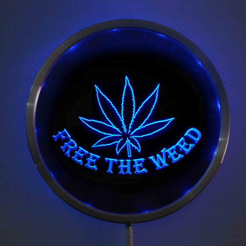 Free The Weed LED Round Neon Sign Choose Your Color - 420 Mile High