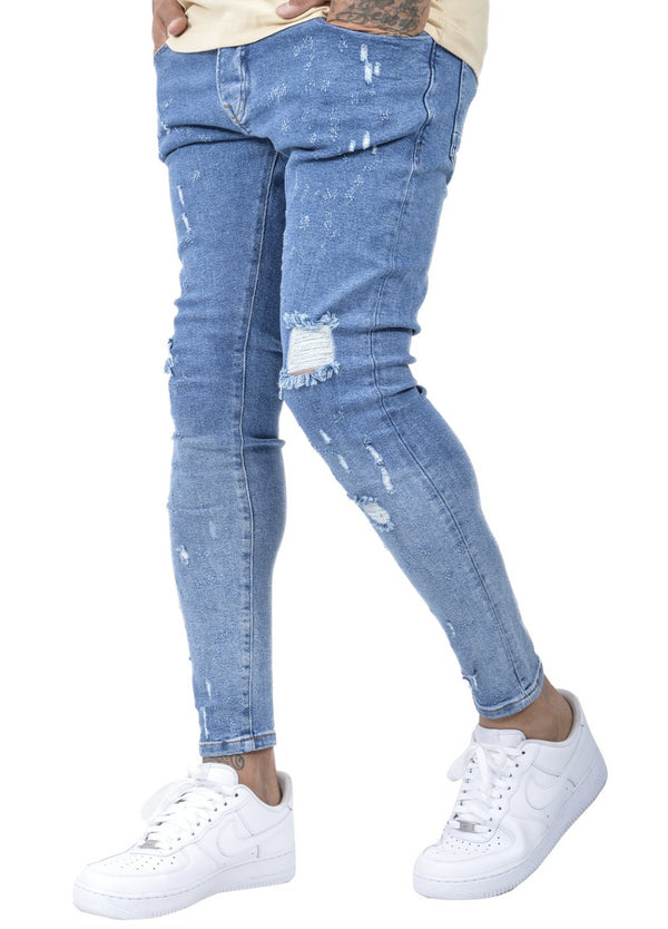 Girona Jeans Blue Destroyed