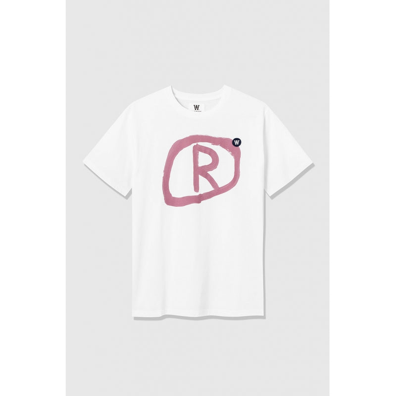 WoodWood Ace T-shirt Grafic White/Pink