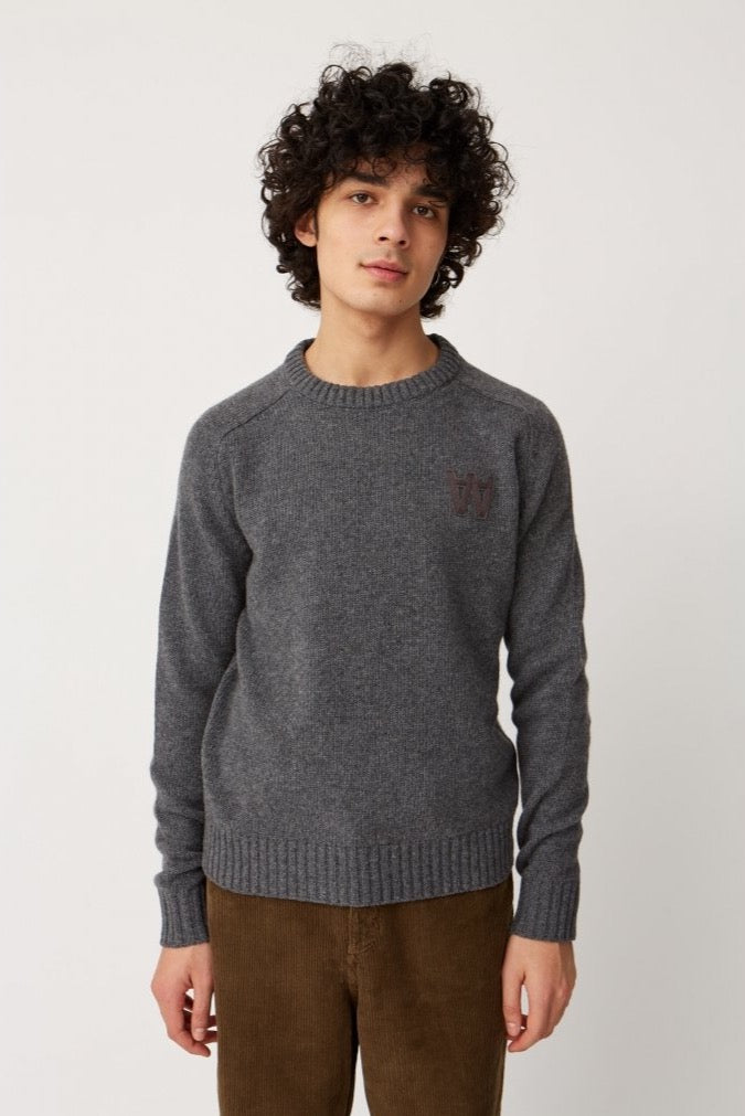WoodWood Kevinn Jumper Knit Grey