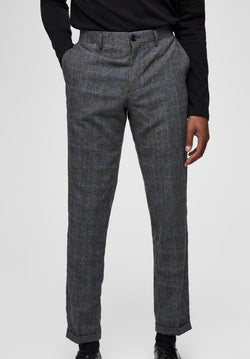 Selected Homme Slim Fit Pants Grey Cheeks