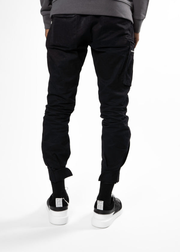 WHYAT Cargo Pants Front Pocket Black