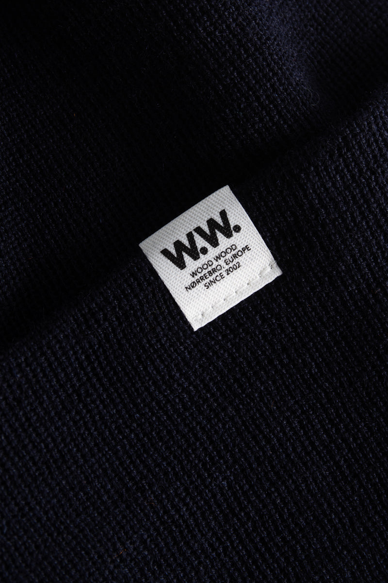 WoodWood Gerald Tall Beanie Navy