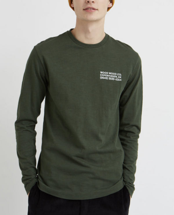WoodWood Long-sleeve Dark Green