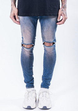 Brito Destroyed Jeans Sand Blue